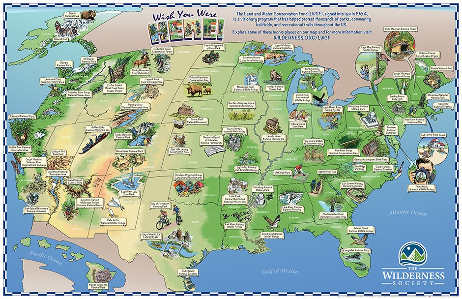 Cool Old School Map National Treasures Funded By The Land And Water Conservation Fund