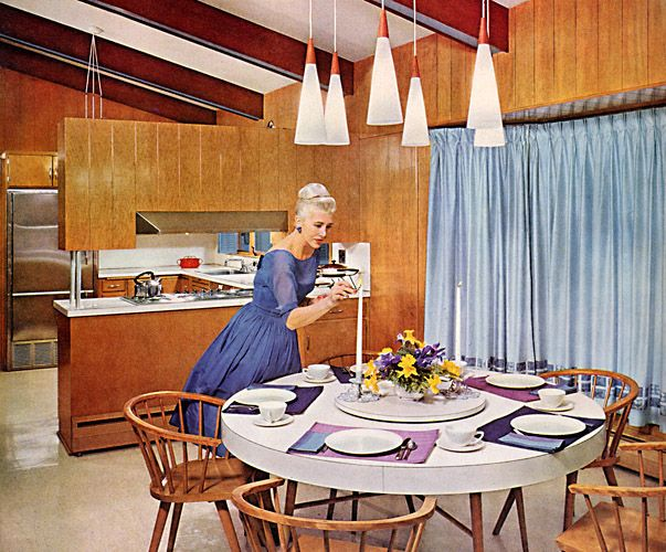 1960 Decor pendant lighting was used in homes in the 1950s and into the very