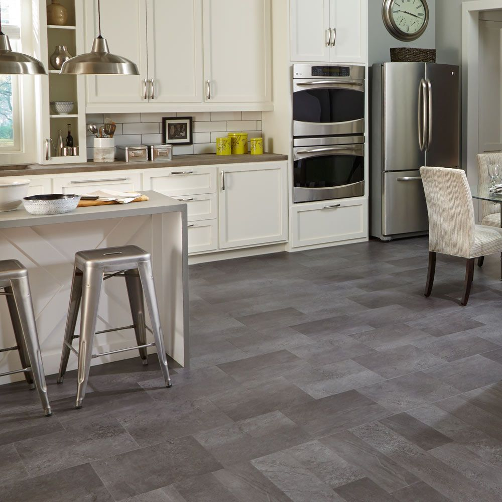 Mannington Adura Luxury Vinyl Tile Flooring Meridian Carbon Or Steel