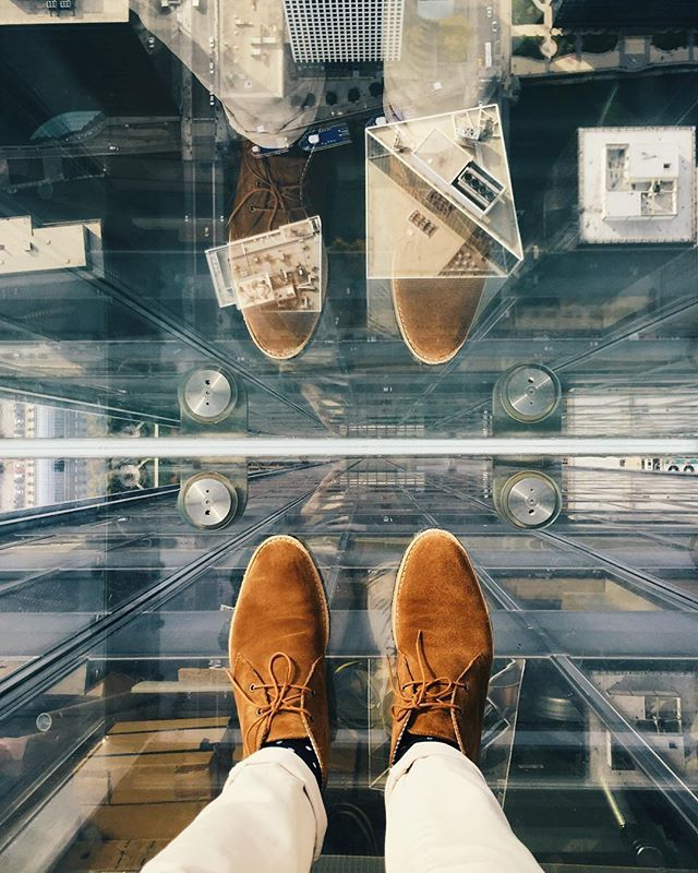 1,700 above ground -- Many thanks to @popularpays for the free entry to the @SkydeckChicago ~ Specular view of Chicago
