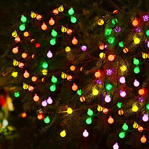 Aluvee 30 LED Solar String Lights Waterproof White Ball Lights 2