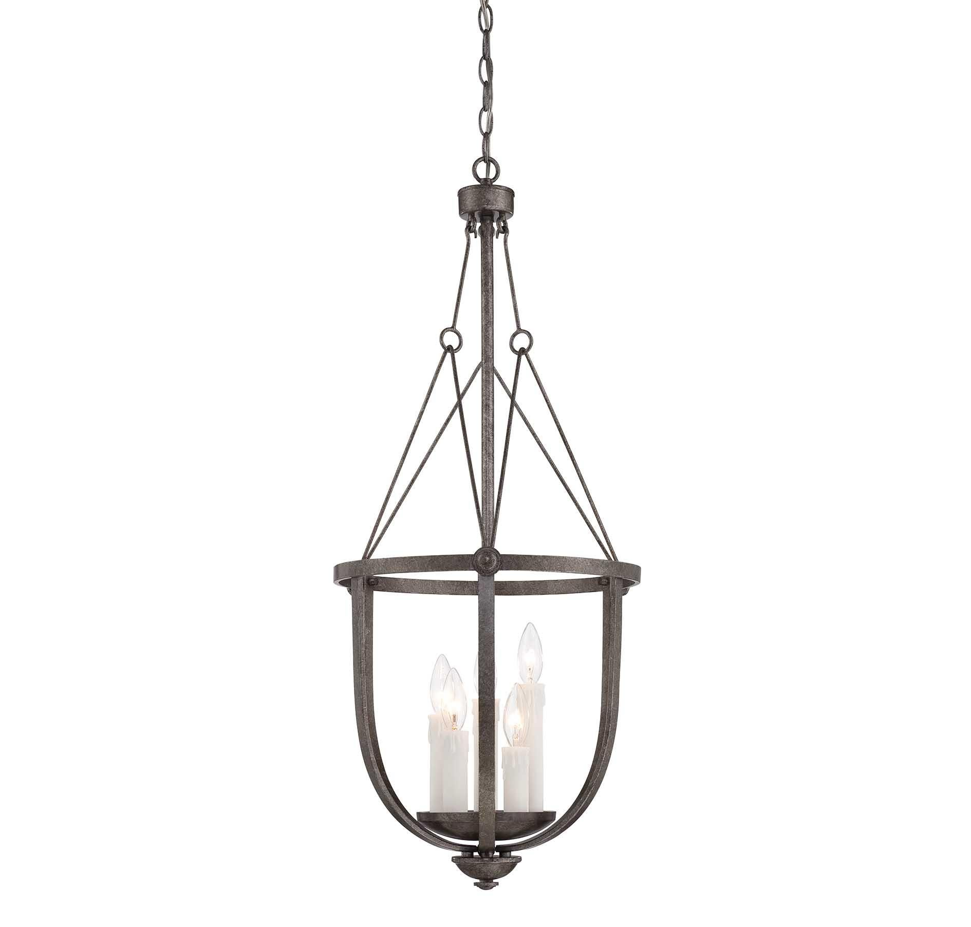35 Inch Iron and Wood Farmhouse Chandelier Lighting