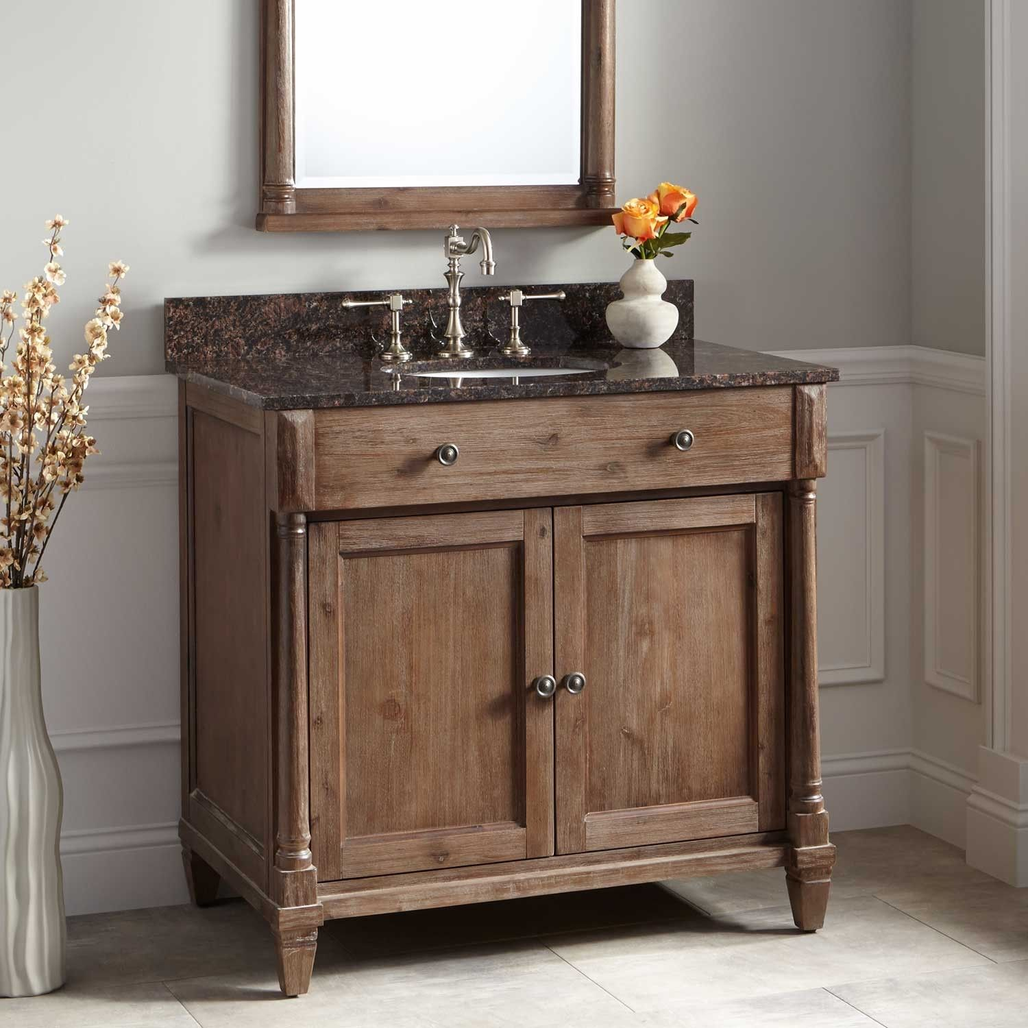 36 Mitchusson Vanity Cabinet Rustic Brown Undermount