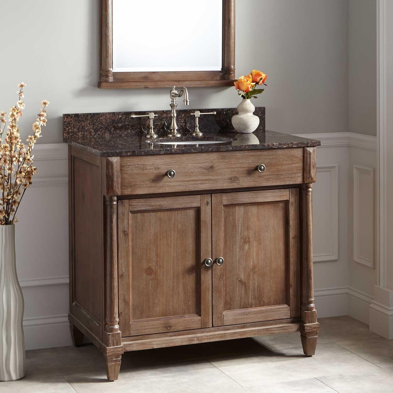 36 Neeson Vanity For Undermount Sink In Rustic Brown Wood