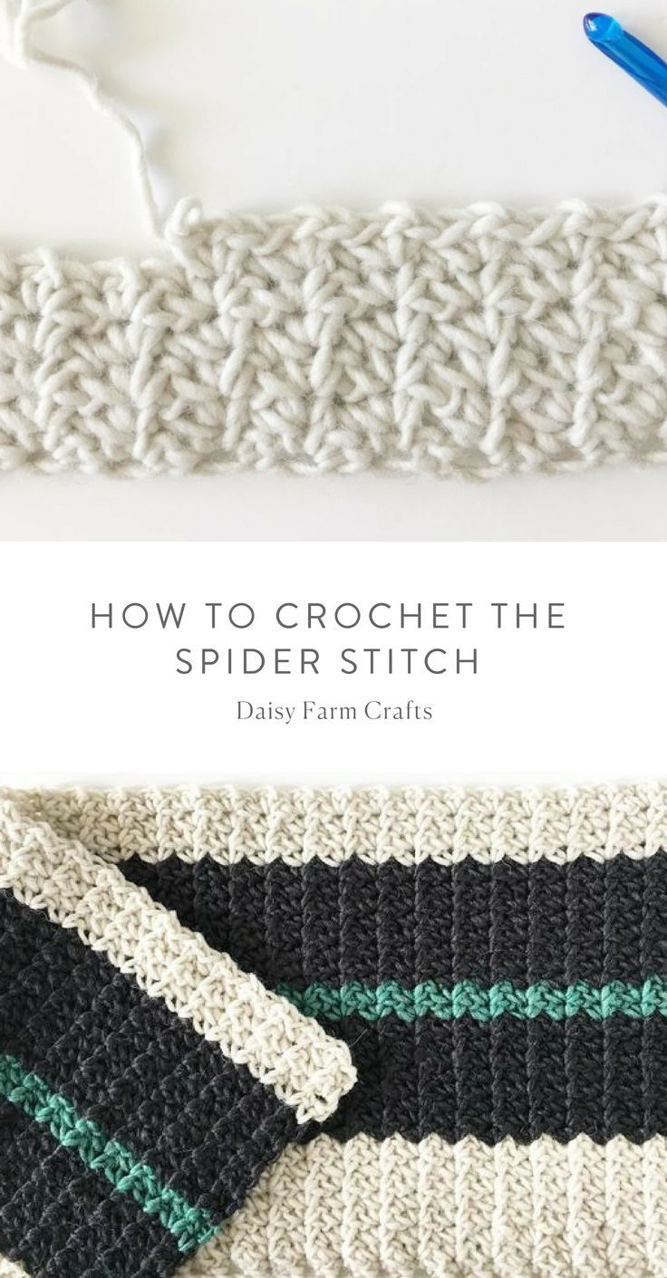 How to Crochet the Spider Stitch | Mantas | Pinterest | Ganchillo ...