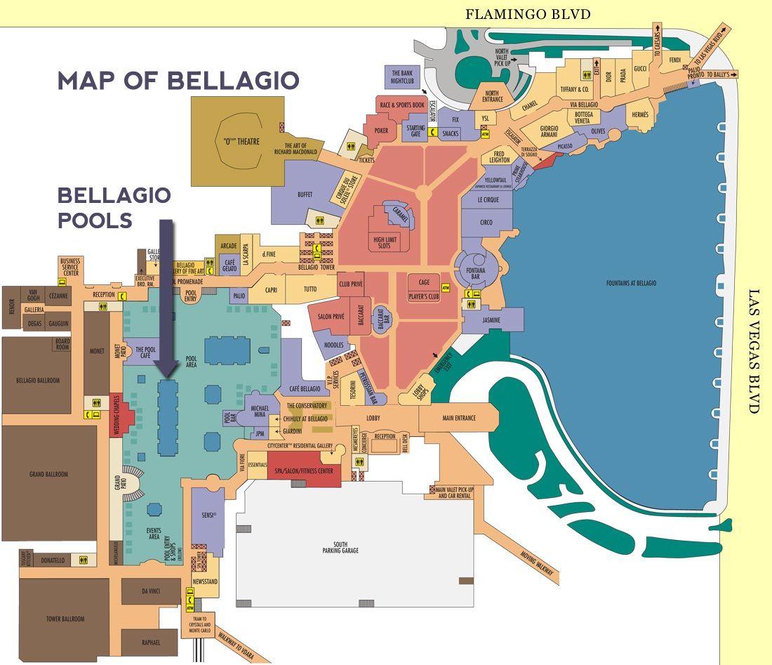 bellagio map Las vegas hotels, Bellagio las vegas