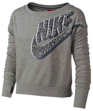 Girls Pullover Seasonal Sb Crew Dark Grey Heather Nike Sweatshirt