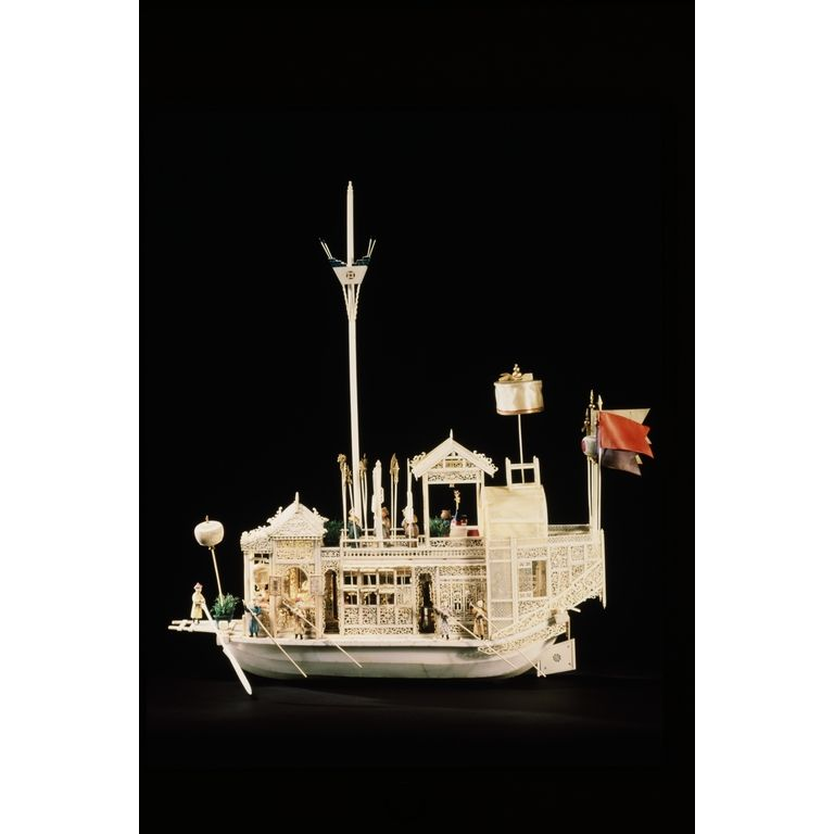 ivory model of a boat 1800 guangzhou