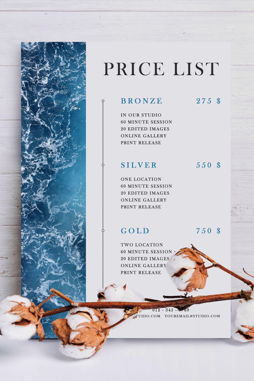 Business Price List Printable Price List Template Printable Price Guide Pricing List Salon Price List Editable Price Chart Psd Price List Template Price List Design Price List