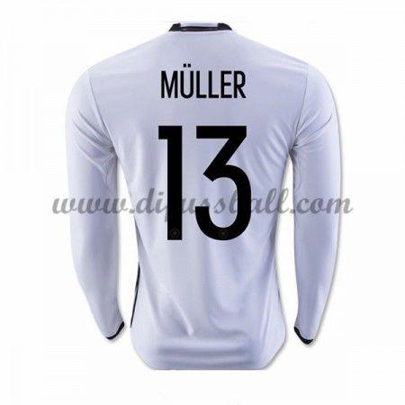 promo code 9d818 31fd2 Nationaltrikot Deutschland 2016 Muller 13 Langarm Hei ...