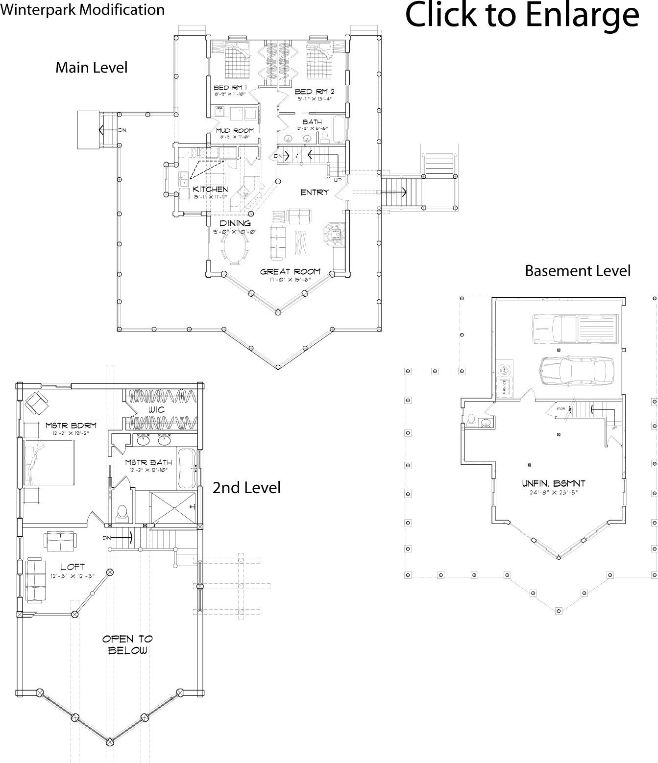 modified winterpark log home floorplan from precisioncraft | Log ...