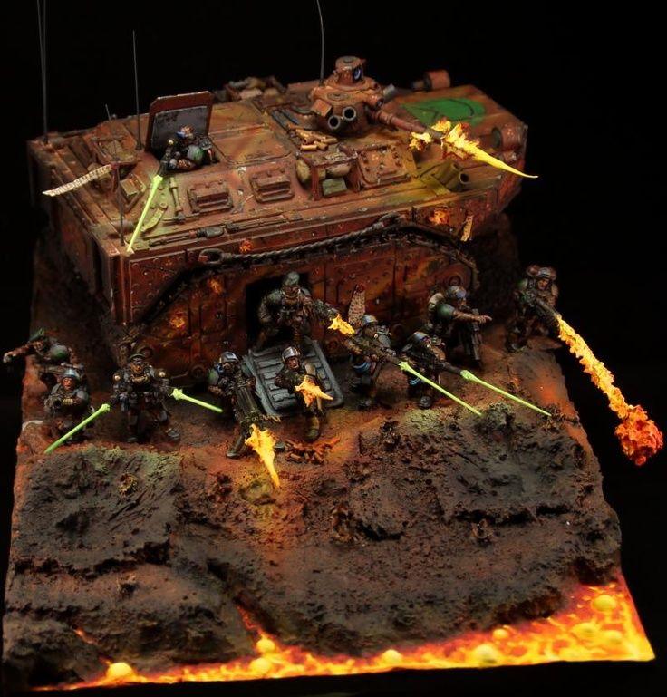 "warhammer 40k dioramas   Warhammer 40k, Imperial Guard. Sweet diorama named ""Orkalypse Now"""