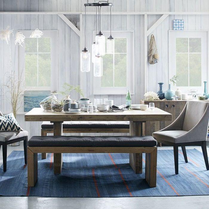 Mesa rústica para la cocina | comedor banco | Pinterest | Mesa ...