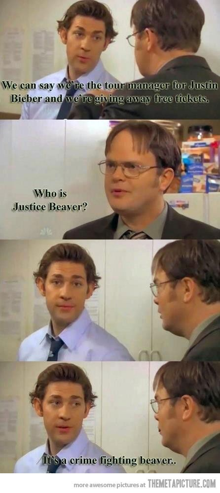 Justice Beaver | Office quotes, Funny scenes, Funny ...