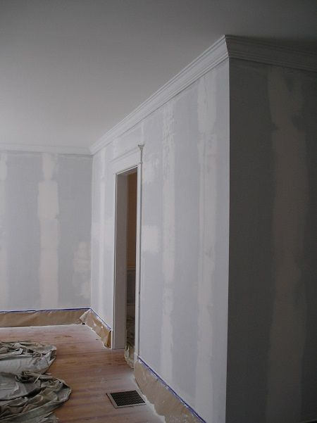 Walls Patched And Ready To Paint After Removing Wallpaper