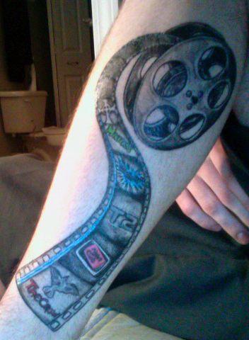 Film Reel Tattoo : tattoo, Cinema, Tattoo, Tatuajes, Pierna,, Tatuajes,
