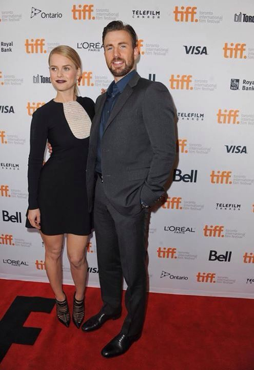 Chris Evans and Alice Eve at Before we go premiere.