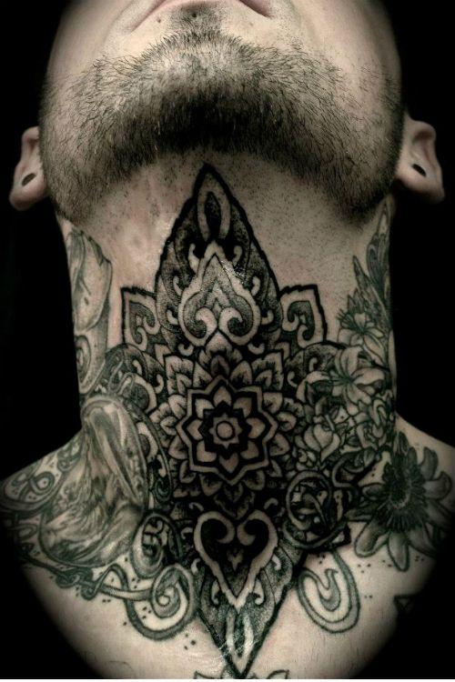 2728b1a6cc8a5 Father And Son Tattoos Ideas   Tattoo Designs   Throat tattoo, Geometric  throat tattoo, Kneck tattoos