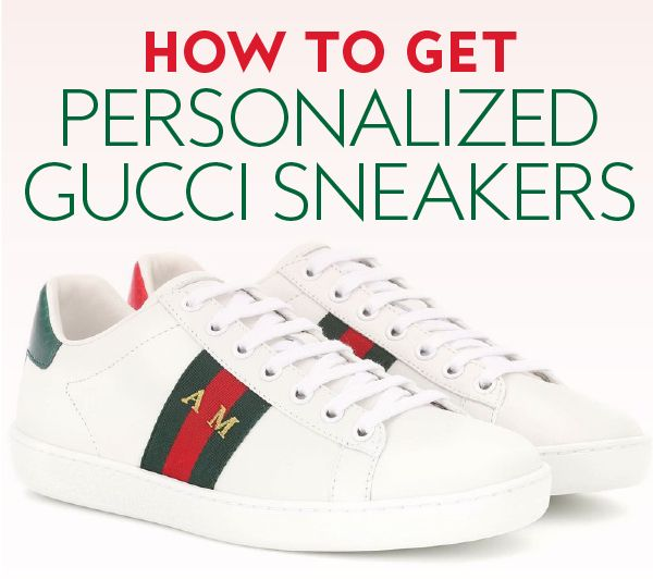 fb7670e9a61 ... Gucci Ace sneakers personalized with your initials—find out how! This  year s most coveted sneakers just got even cooler.  Sneakers  GucciSneakers    ...