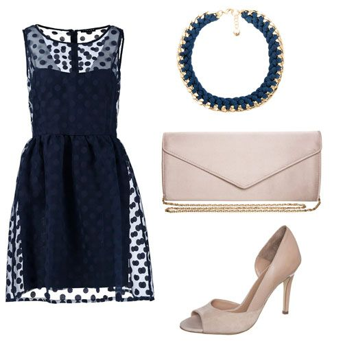 Zalando robe bleu marine