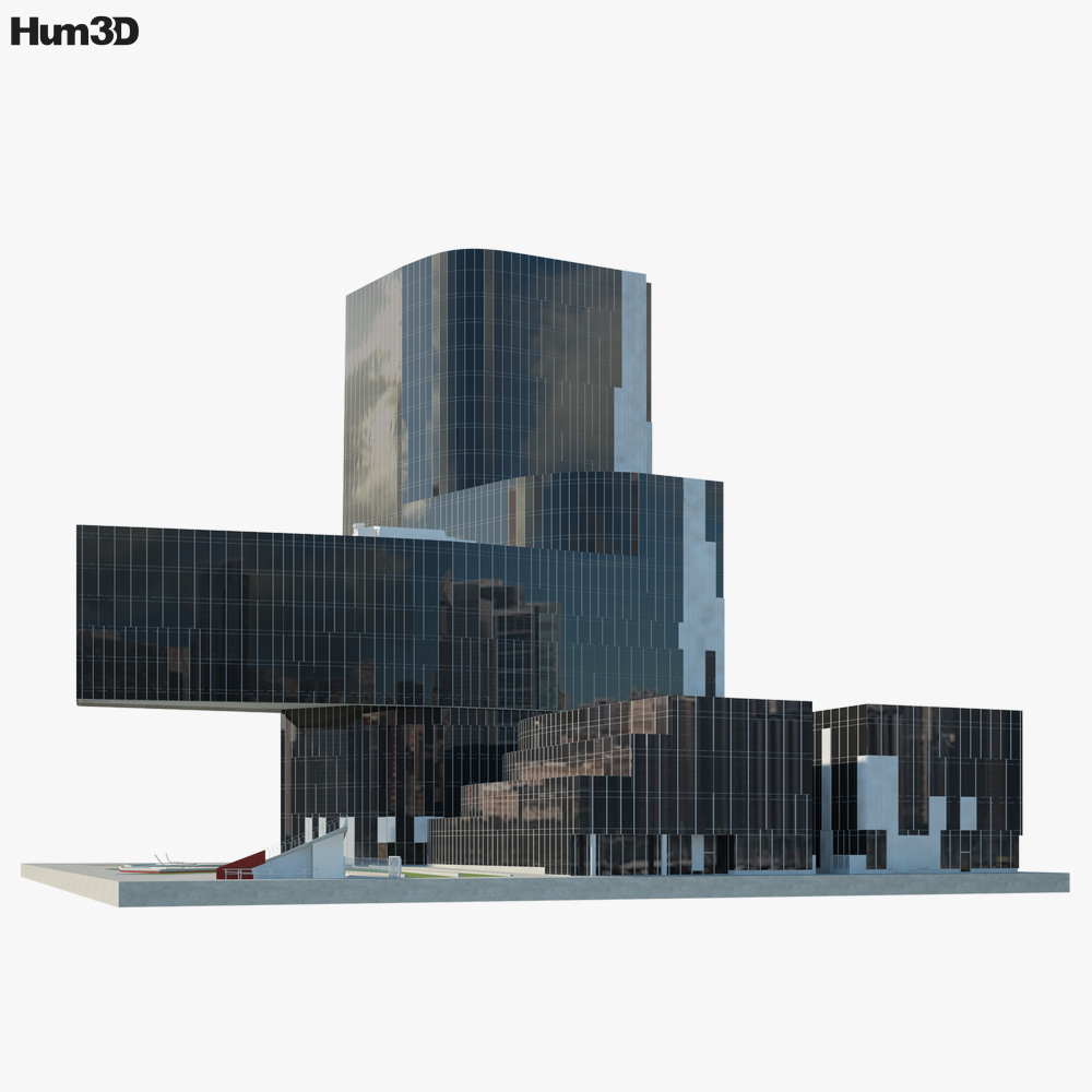 3d Model Of Gas Natural Building Available For Download In Fbx Obj 3ds C4d And Other File Formats For 23 Software Model Natural Building 3d Model Building