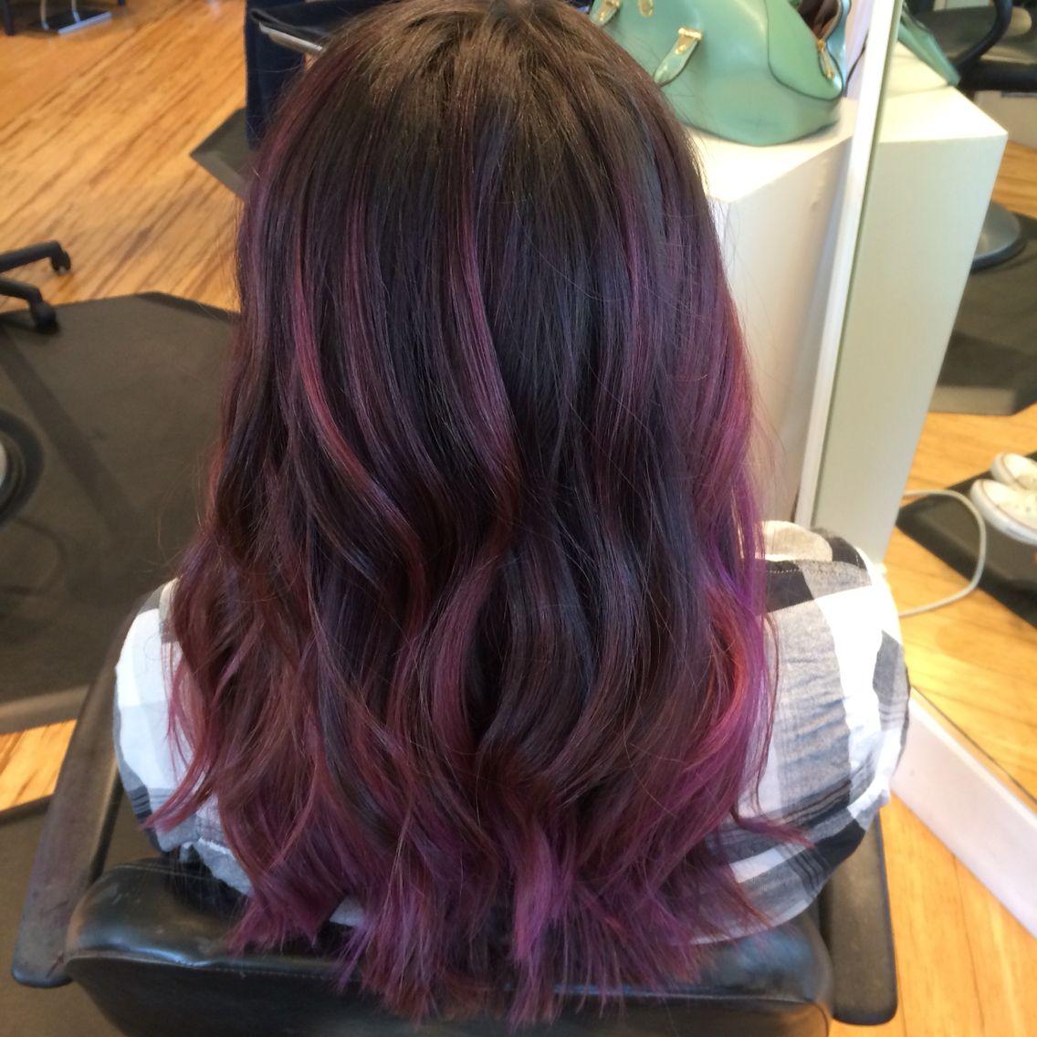 Purple Magenta Pink Balayage