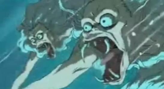 Rumiko Takahashi Mermaid Saga Animation art, Beautiful