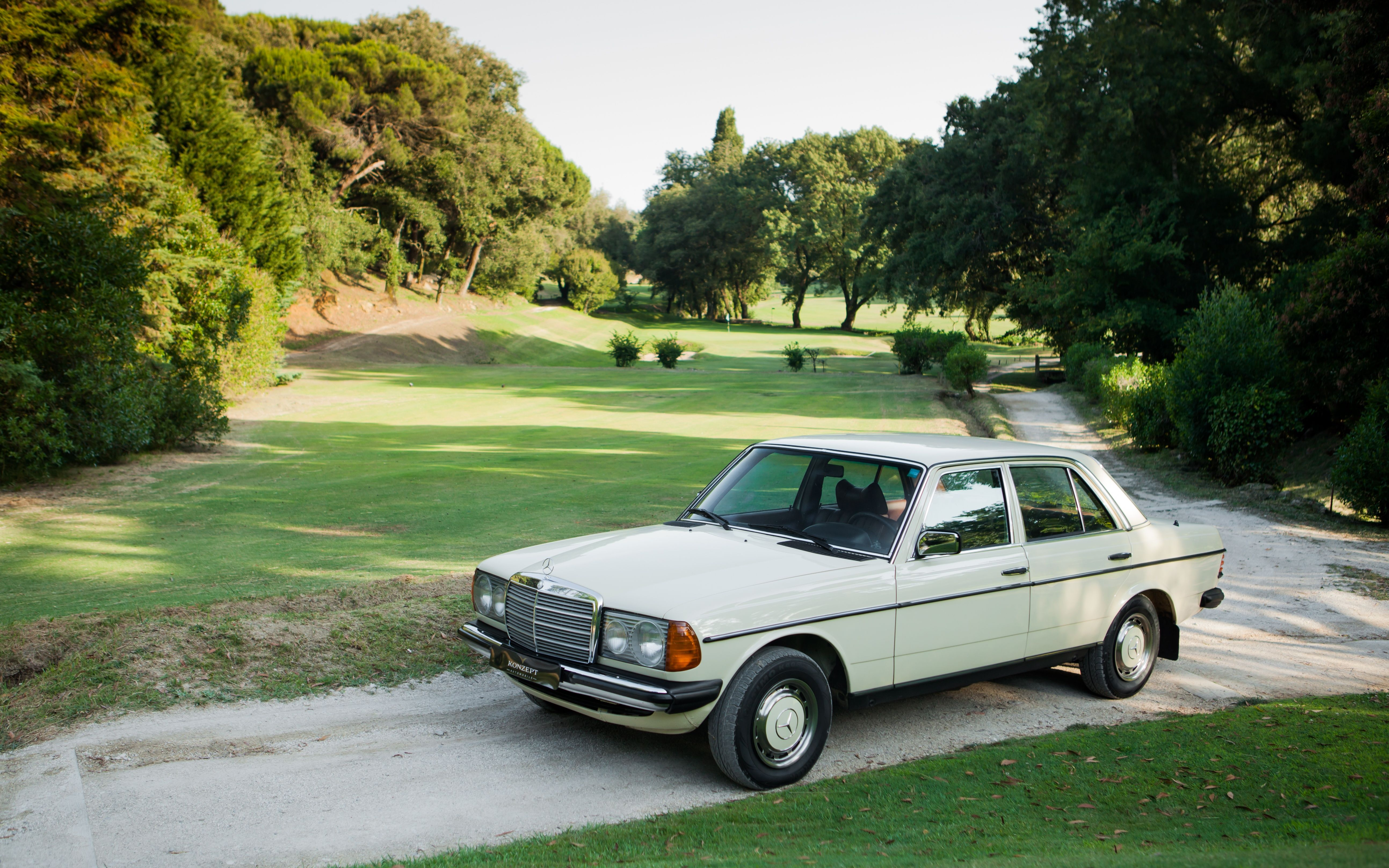 Despite its colour this immaculate W123 was never used as a