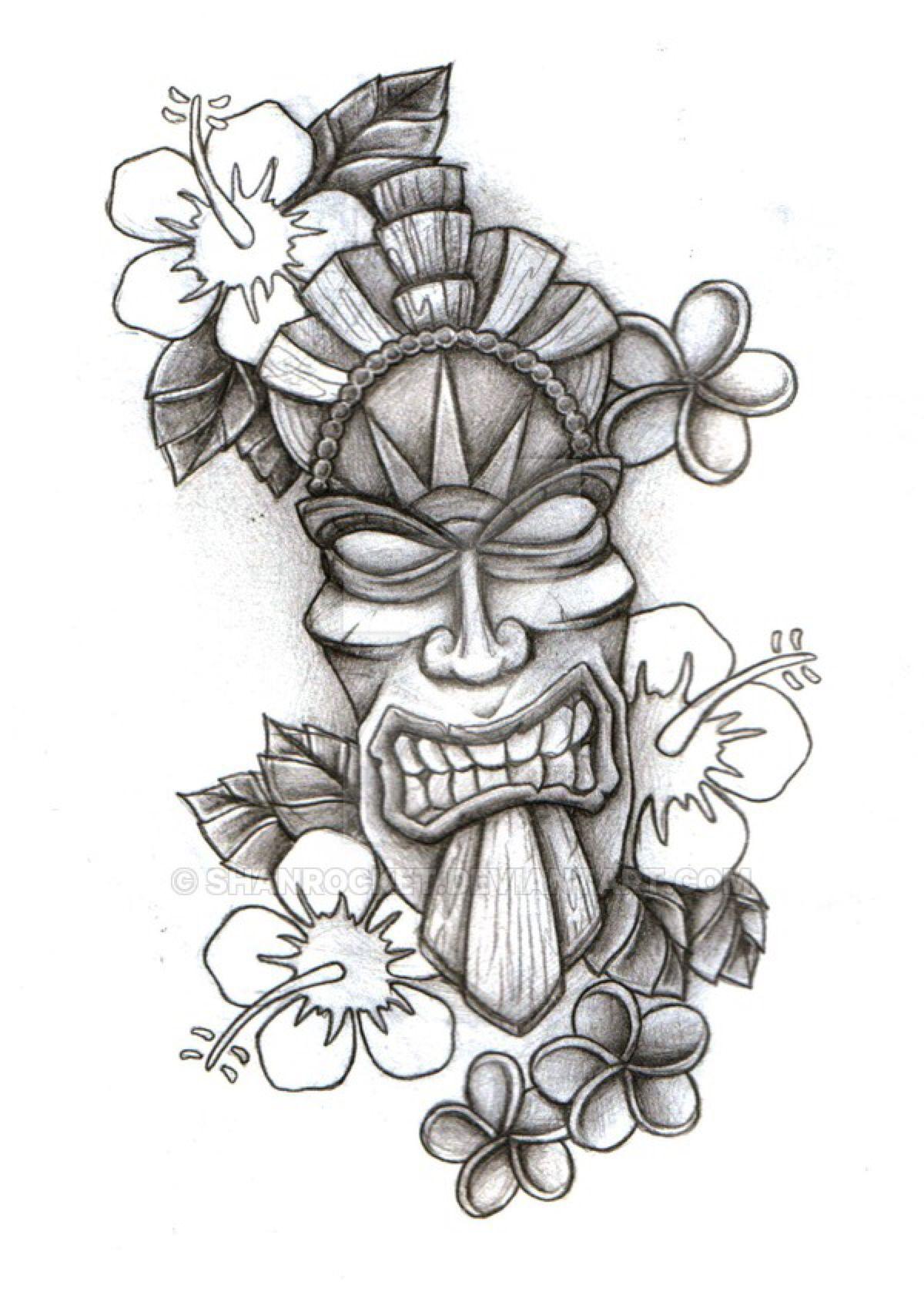 tiki mask sketch by shanrocket on deviantart aztecs haiti pinterest tiki mask sketches. Black Bedroom Furniture Sets. Home Design Ideas