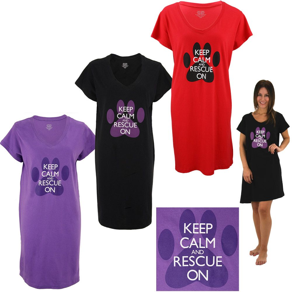 Keep Calm Rescue On Nightshirt At The Animal Rescue Site Night Shirt Rescue Animal Rescue Site