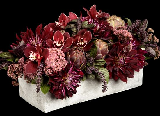 Love The Colors Low Centerpieces Modern Flower