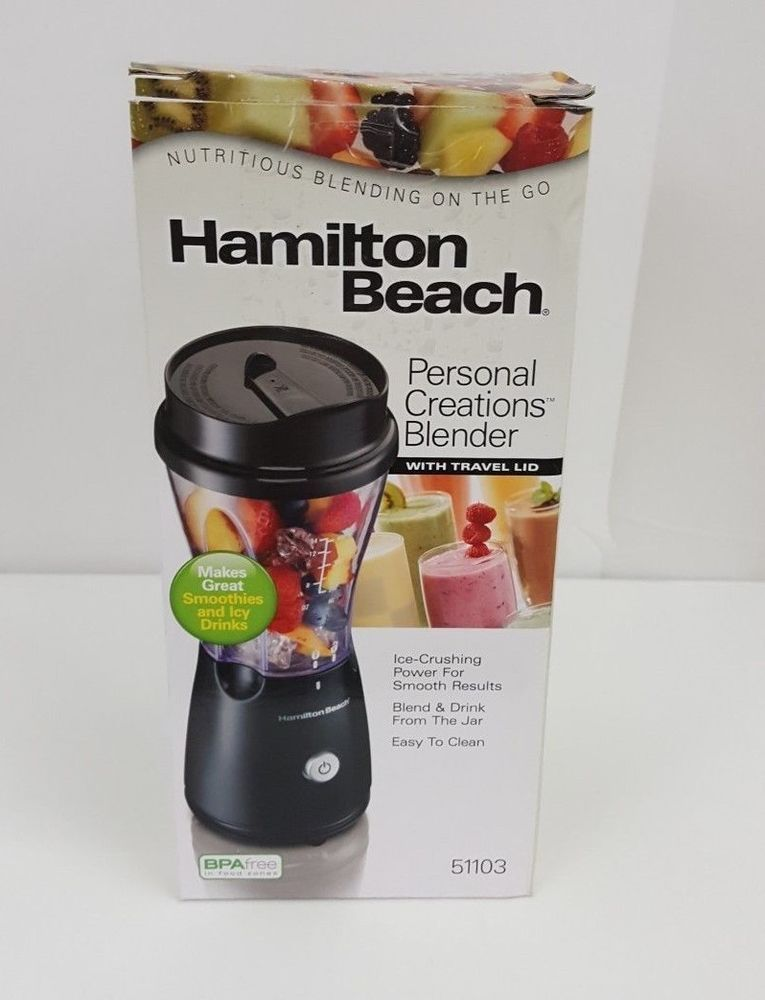 Hamilton Beach 51103 Single Serve Blender With Travel Lid Bpa Free