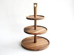 Image result for 3 tiered wooden stand