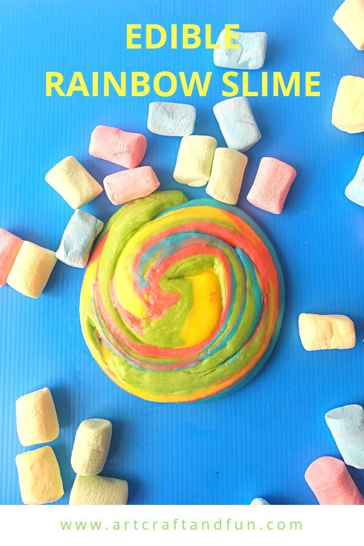 How To Make Rainbow Edible Slime Using Marshmallows #edibleslime Make Rainbow Edible Slime today. This easy edible slime recipe uses marshmallows. The colorful marshmallows give this slime its pretty Rainbow colors. Sure to be a favorite of everyone! #rainbowslime #edibleslime #slime #edibleslime