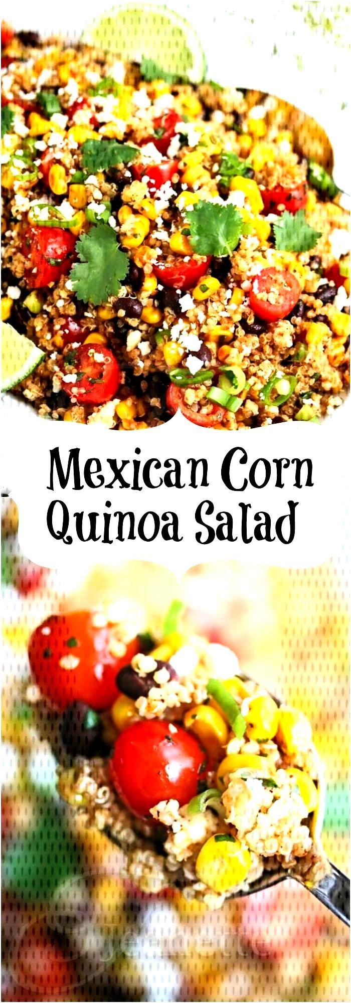 Mexican Corn Quinoa Salad Recipe -