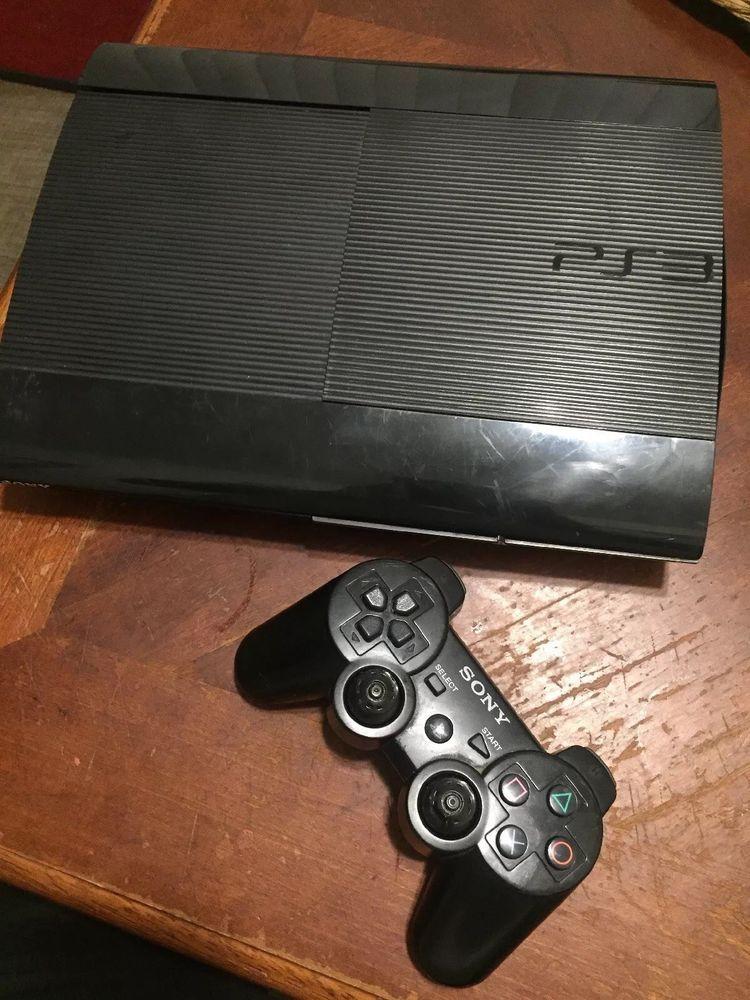 Sony PlayStation 3 Super Slim 250GB Black Console #ps4