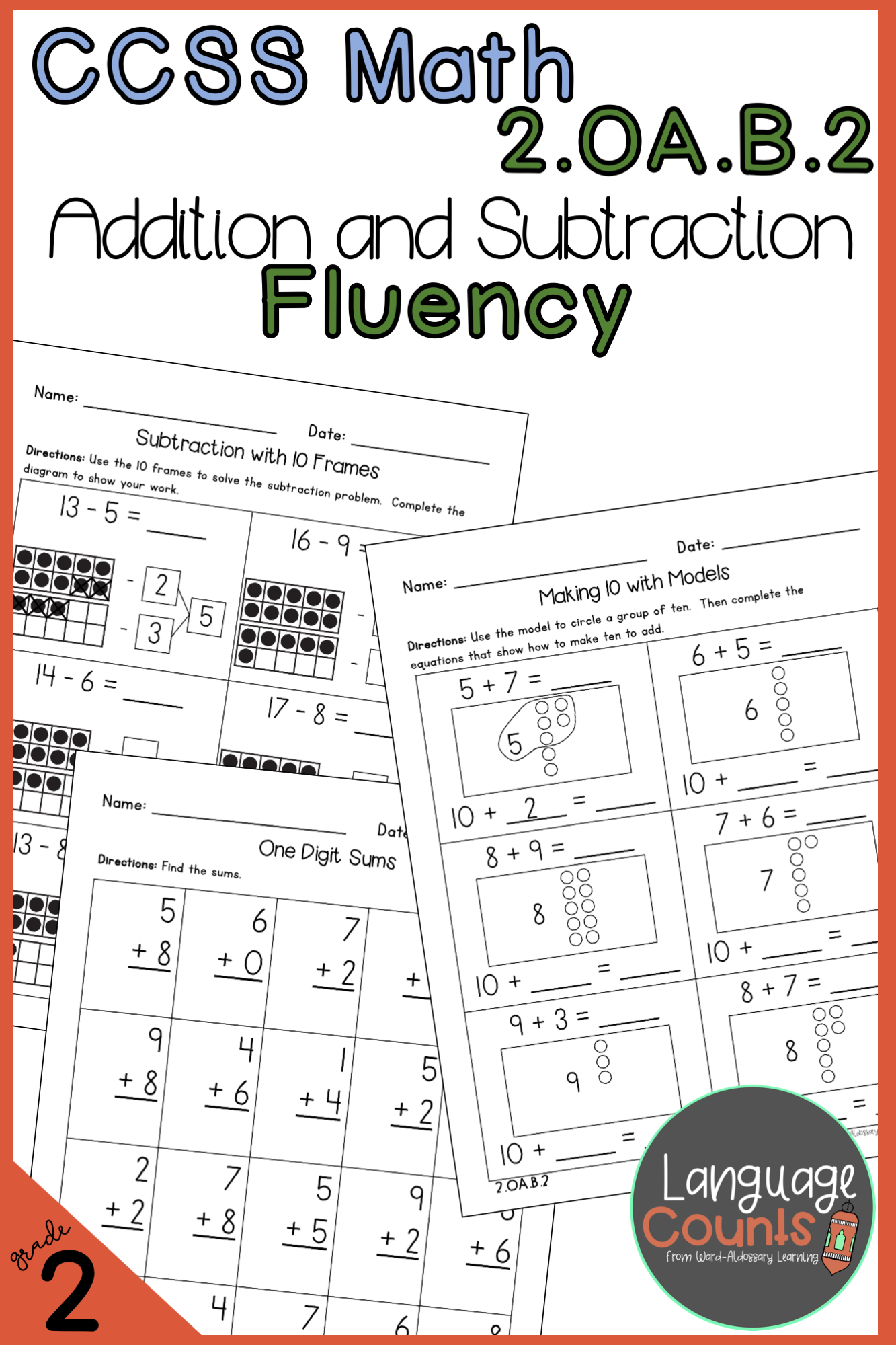 2nd Grade Addition And Subtraction Fluency No Prep