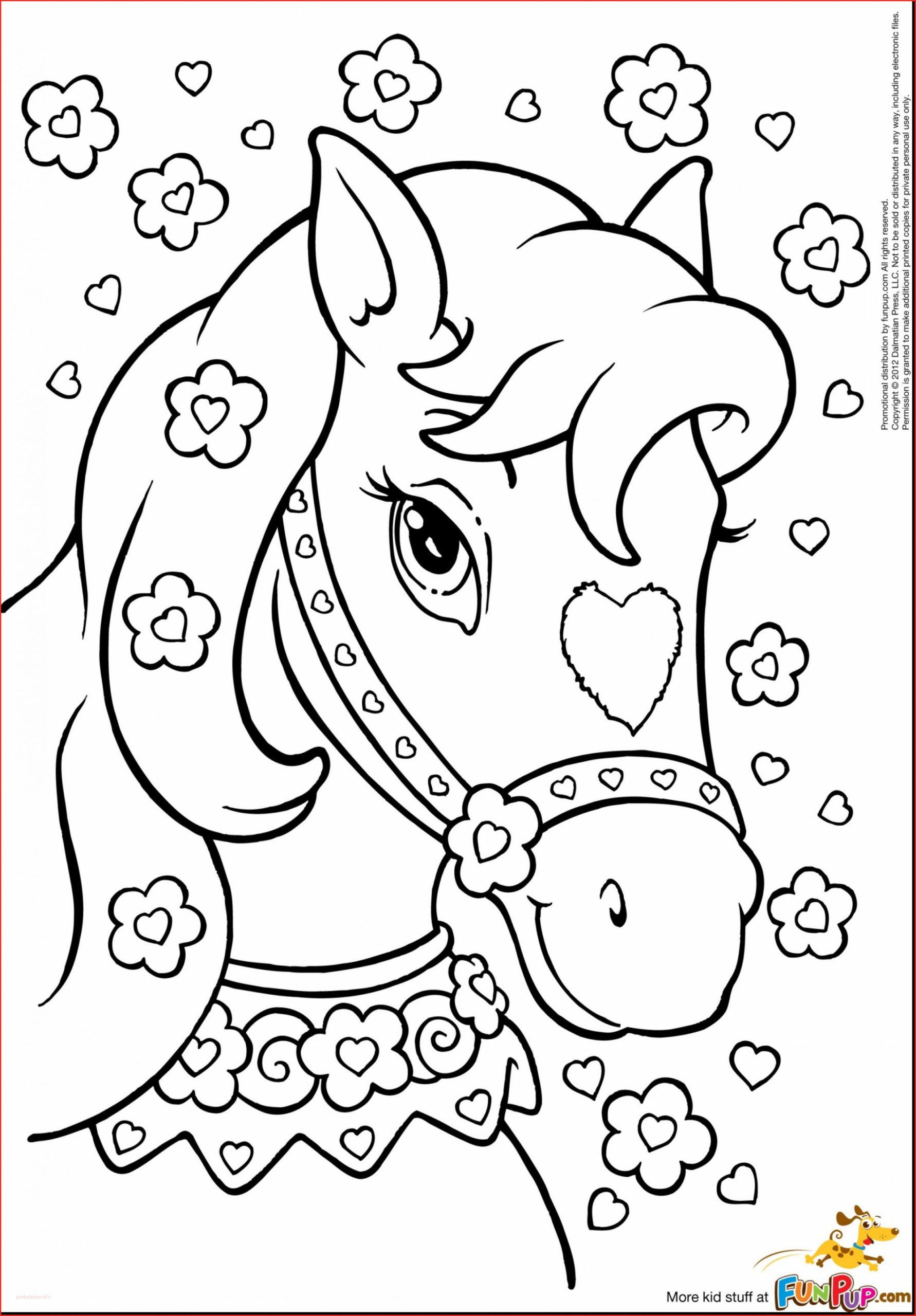 Cute Horse Coloring Page - youngandtae.com  Unicorn coloring