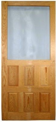 2 8 X 6 8 Raised Panel Wood Screen Door Wood Screen Door Screen Door Wood