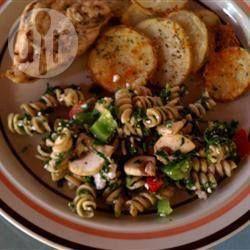 Spinach feta pasta salad @ allrecipes.co.uk