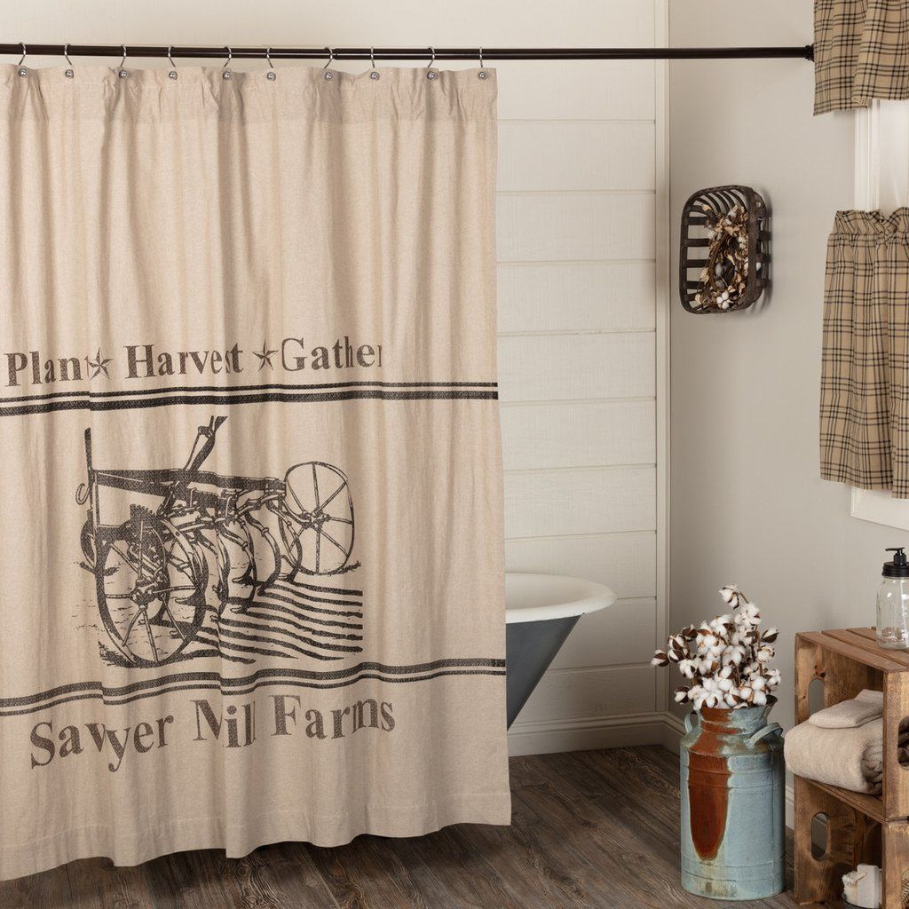 Sawyer Mill Charcoal Plow Shower Curtain In 2019