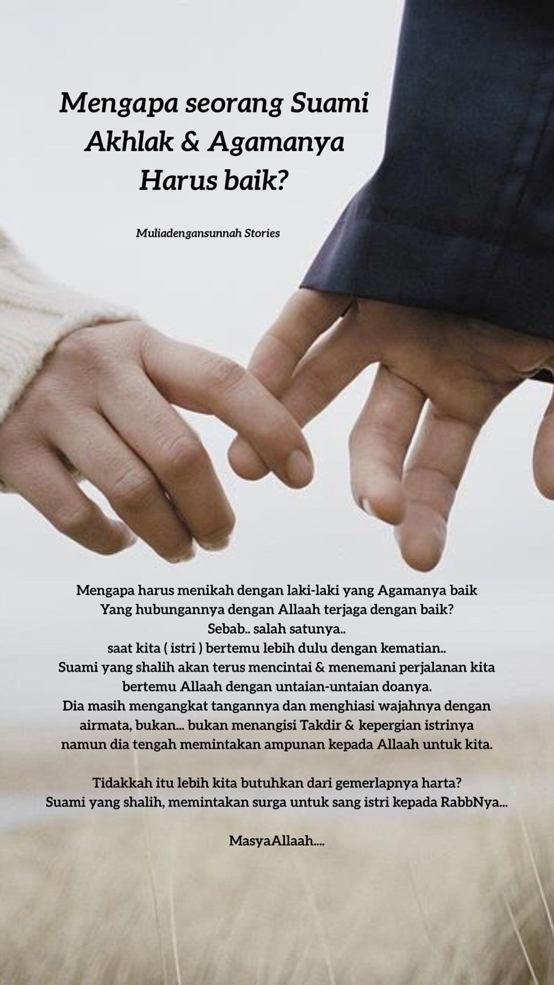 Suami Yang Ideal Di Mata Islam Islamic Quotes Kutipan