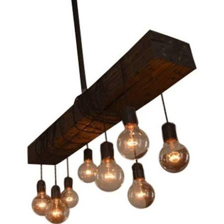 neylon wood beam chandelier - Google Search