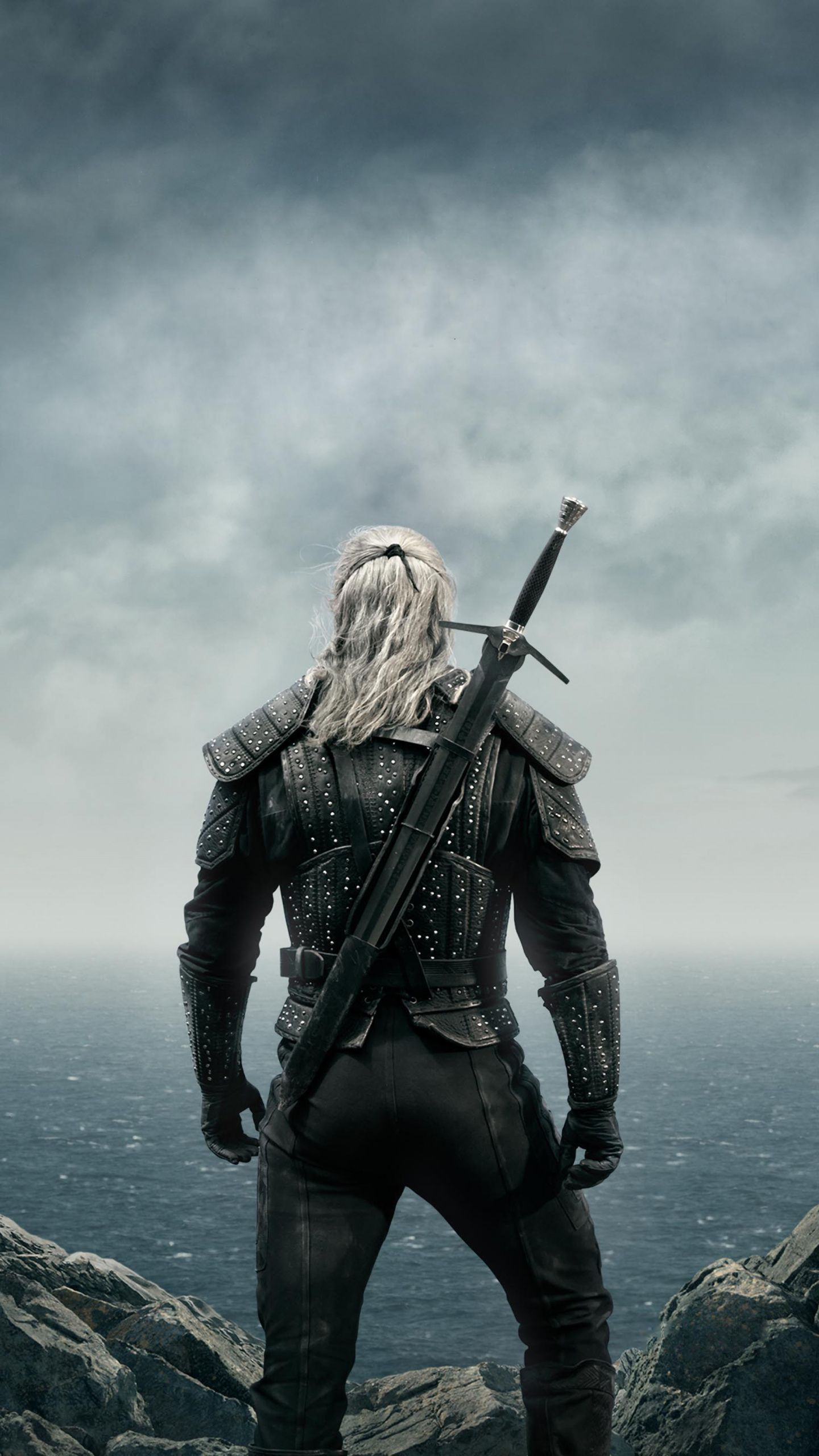 1440x2560 The Witcher Warrior 2019 Netflix Tv Show Poster Wallpaper The Witcher Geralt The Witcher Witcher Art