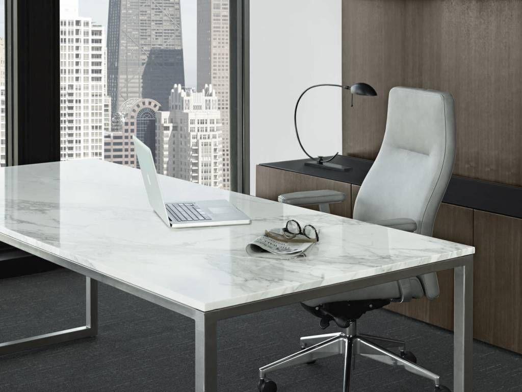 Modern Executive Glass Desks Mesas Con Marmol Escritorios