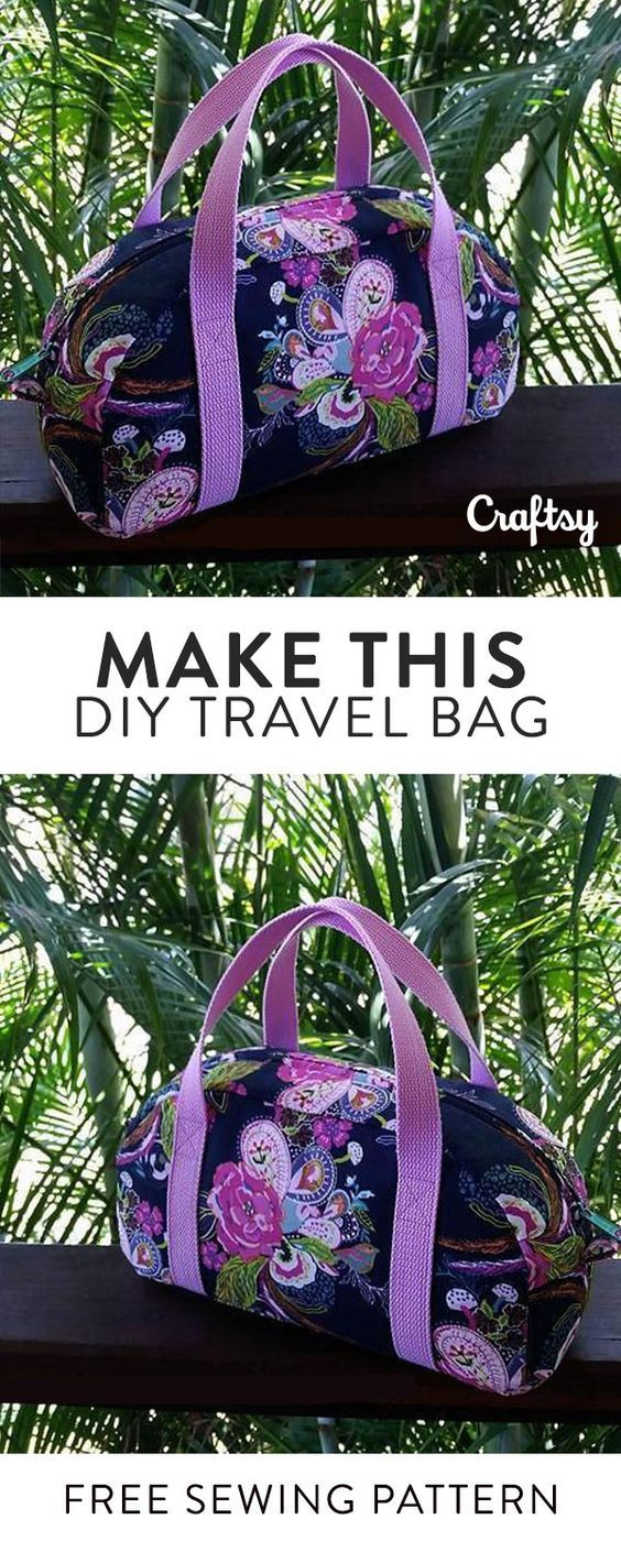 Sew your own travel bag. This free sewing pattern is perfect ...