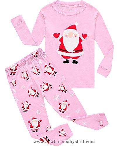 04eb9bd1c Baby Girl Clothes IF Pajamas Christmas Santa Baby Girls Pjs 100 ...
