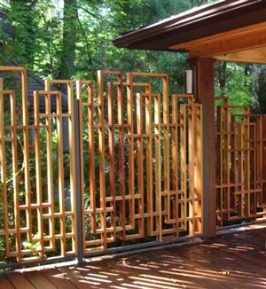 Nice Fence Idea Maybe With Bamboo Skrews And Rope Or