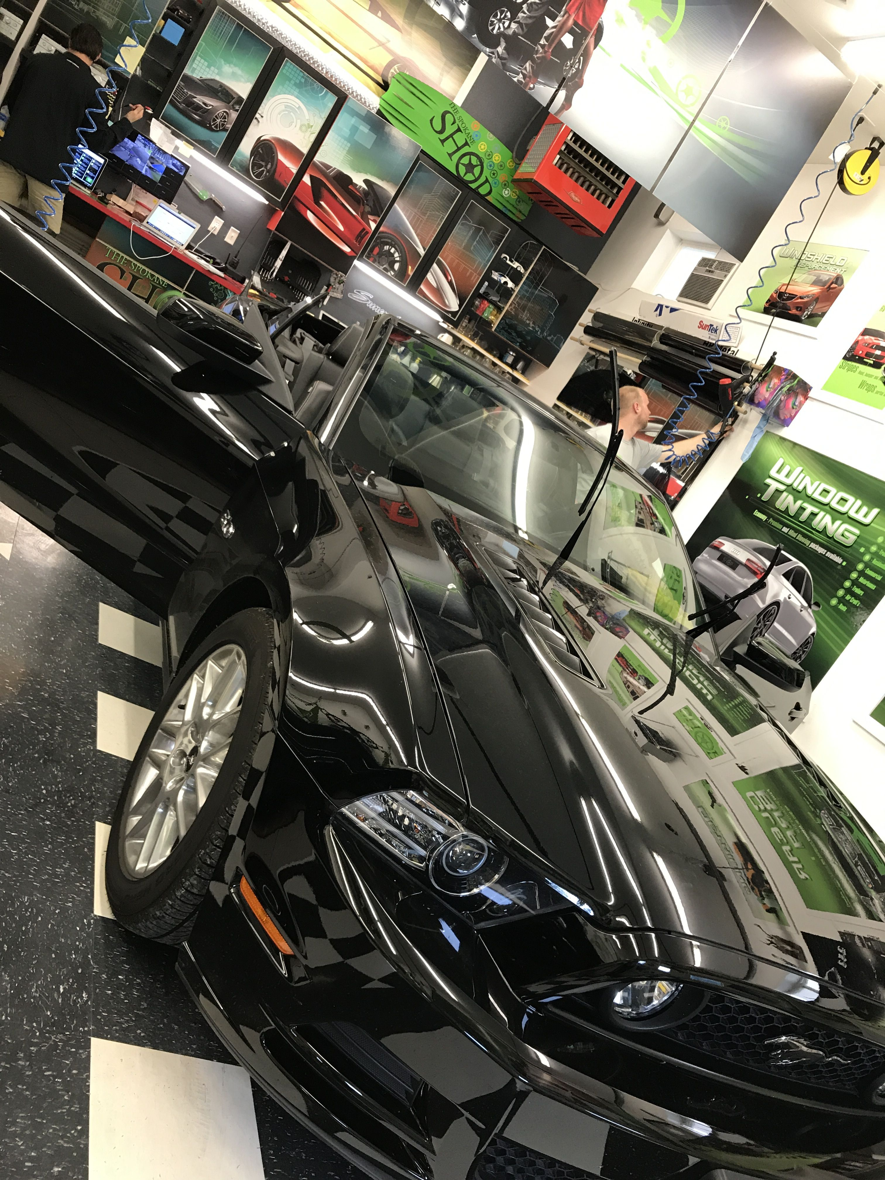 What A Hot Mustang Gt Here Kon And Nick Are Working On It Together I Shall Post A Follow Up Of Commercial Window Tinting Tinted House Windows Tinted Windows