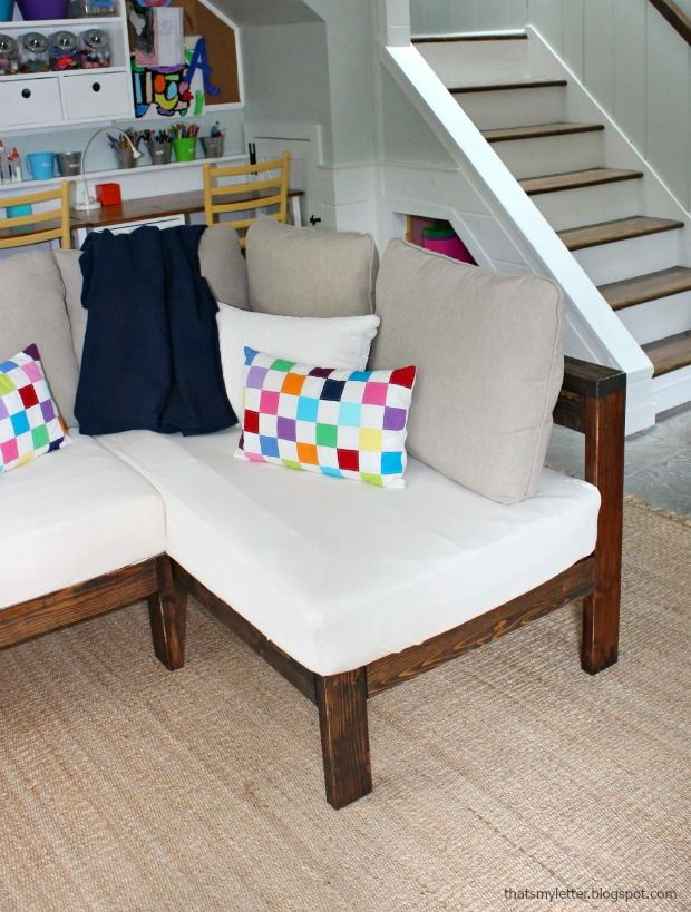 A Diy Tutorial To Build Sectional Style Sofa Using Two Crib Mattresses For Cushions You Can Yourself And Reuse Old